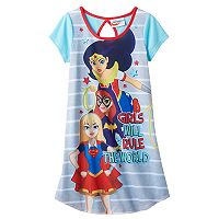 Girls 4-12 DC Comics DC Super Hero Girls Wonder Woman, Bat Girl & Super Girl