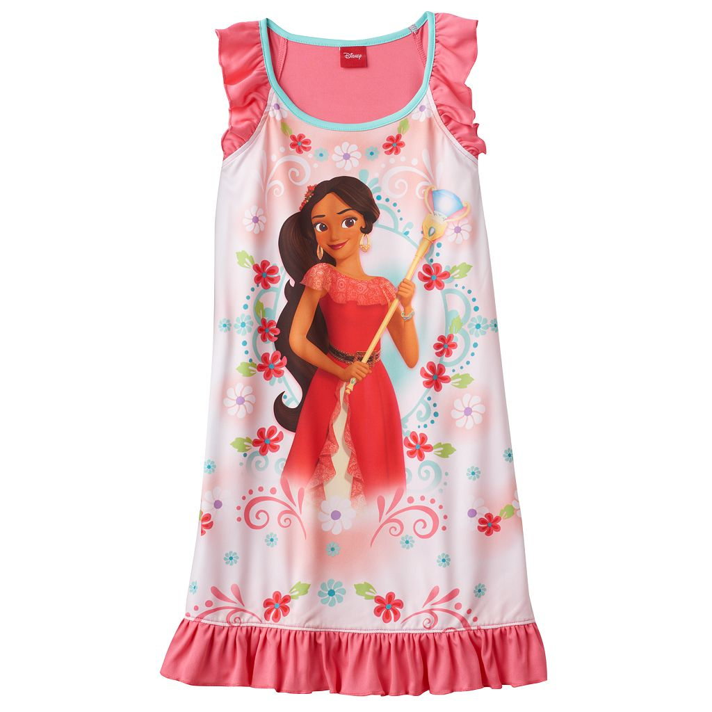 Disney's Elena of Avalor Girls 4-8 Floral Dorm Nightgown