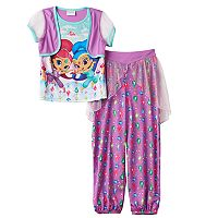 Girls 4-8 Shimmer & Shine Mock-Layer Vest Pajama Set