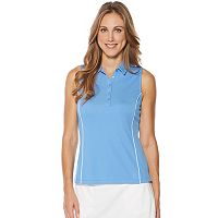 Women's Grand Slam Ruched Sleeveless Golf Polo