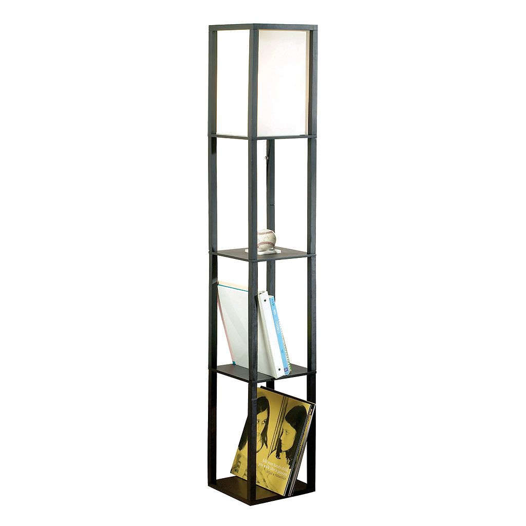 Catalina Lighting Square 2-Shelf Floor Lamp