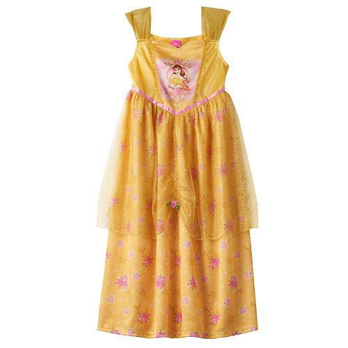 Disney Princess Belle Girls 4-8 Fantasy Nightgown