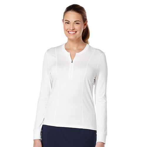 Women's Grand Slam Solid Quarter-Zip Golf Top