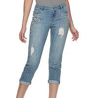 Women's Jennifer Lopez Embellished Boyfriend Jeans