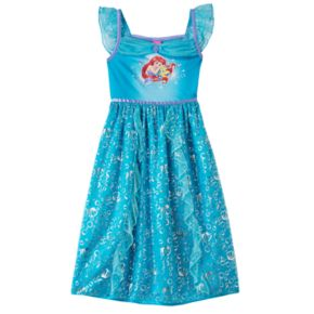 Disney Princess Ariel & Flounder Girls 4-8 Fantasy Nightgown