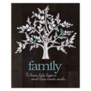 """Family"" Tree Farmhouse Planked Wood Wall Art"