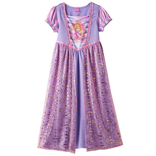 Disney Princess Rapunzel Girls 4-8 Beautiful Fantasy Nightgown