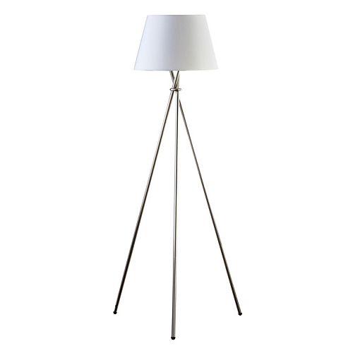 Catalina Lighting Silver Finish Tripod Floor Lamp