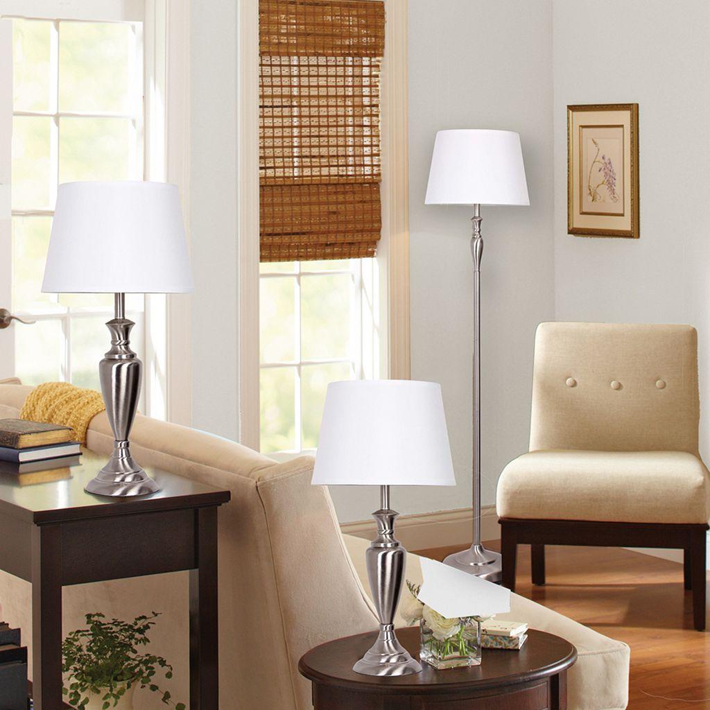 Catalina Lighting Floor Lamp & Table Lamp 3-piece Set