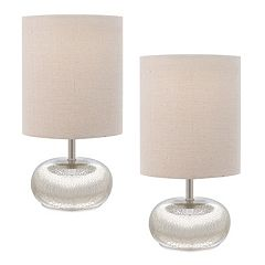 Catalina Lighting Mercury Glass Table Lamp 2-piece Set
