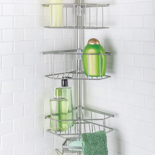 Richards Laguna Satin Shower Tension Pole Rack