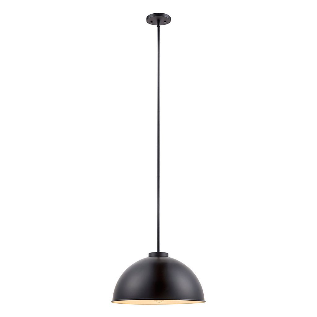 Catalina Lighting Black Steel Pendant Lamp