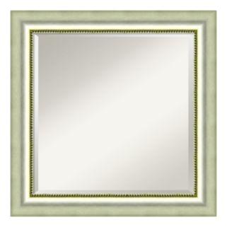 Amanti Art Burnished Silver Finish Square Wall Mirror