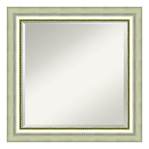 Amanti Art Burnished Silver Finish Square Wall Mirror