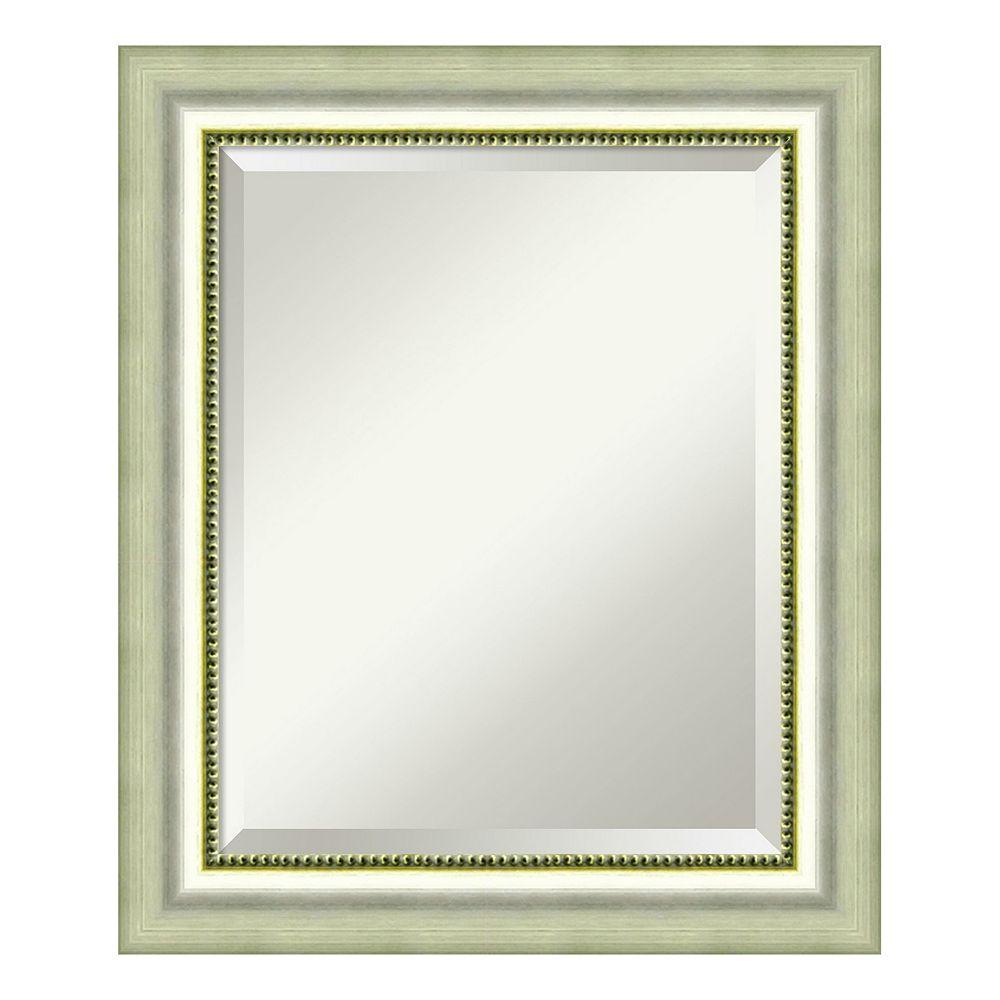 Amanti Art Burnished Silver Finish Medium Wall Mirror
