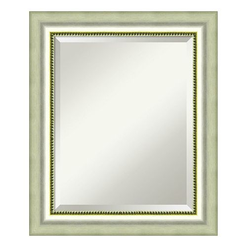 Amanti Art Burnished Silver Finish Medium Wall Mirror