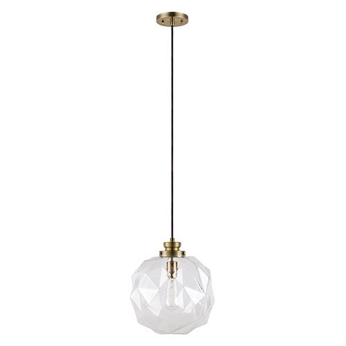 Catalina Lighting Faceted Glass Pendant Lamp