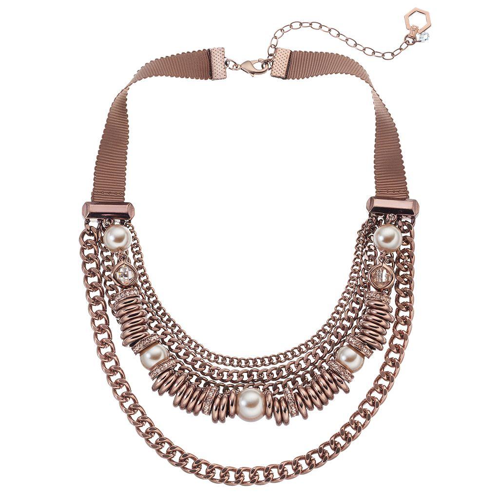 Simply Vera Vera Wang Ribbon Swag Curb Chain Necklace