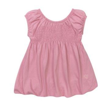 Toddler Girl Burt's Bees Baby Smocked Bubble Dress