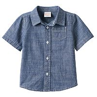 Baby Boy Jumping Beans® Chambray Button-Front Shirt