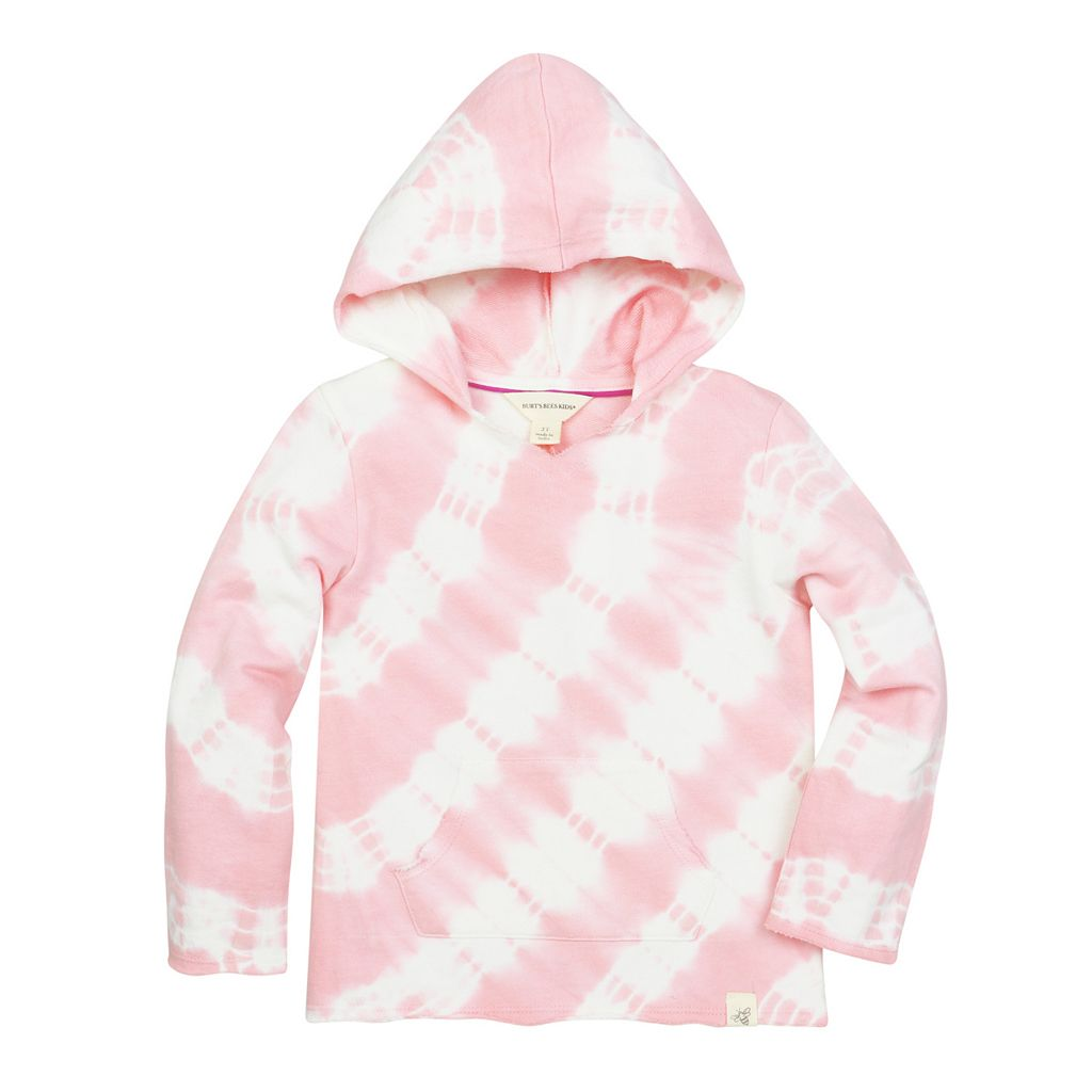 Toddler Girl Burt's Bees Baby French Terry Tie Dye Stripe Hoodie