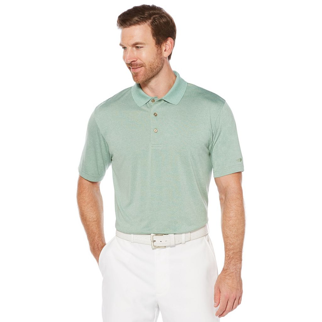 Men's Grand Slam Regular-Fit Heathered Performance Golf Polo