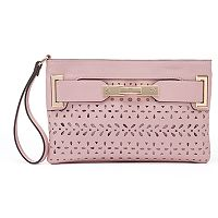 Jennifer Lopez Lola Geometric Perforated Wristlet