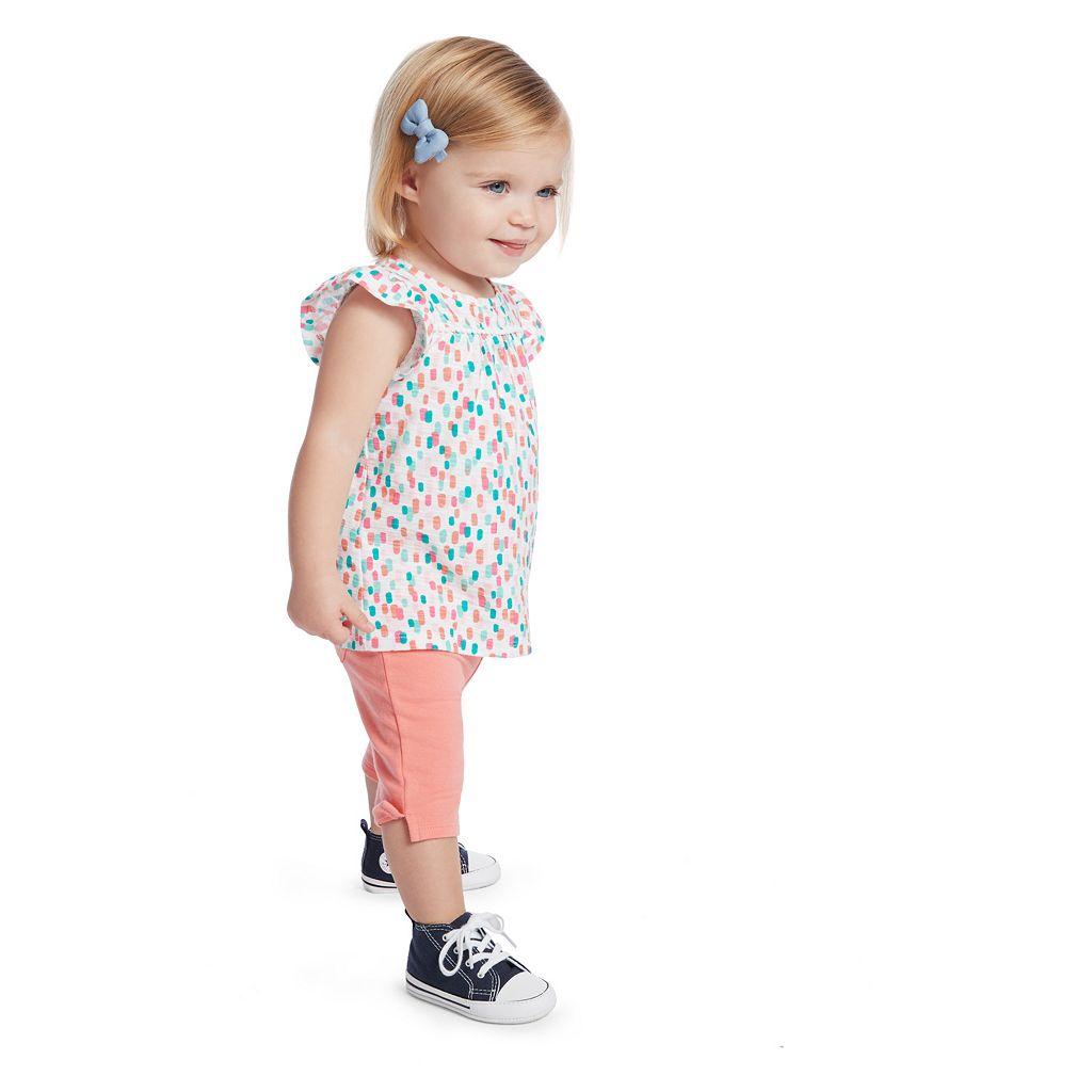 Baby Girl Jumping Beans® Print Pom Tee