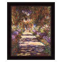 Jardin a Giverny Framed Wall Art
