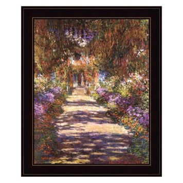 Jardin a Giverny Framed Wall Art