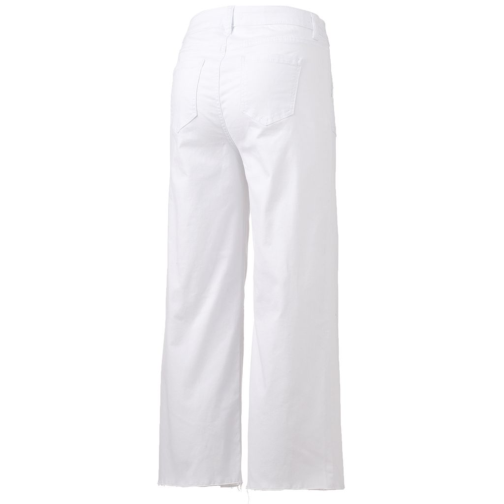 Women's LC Lauren Conrad Wide-Leg Cropped Twill Pants