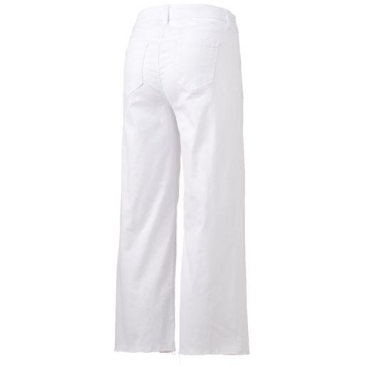 Women's LC Lauren Conrad Wide-Leg Cropped Twill Pants