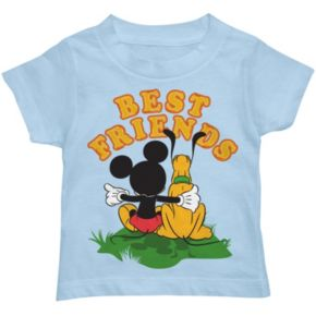 """Disney's Mickey Mouse & Pluto """"Best Friends"""" Toddler Boy Graphic Tee"""