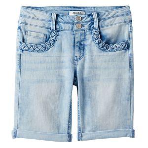 Girls 7-16 & Plus Size Mudd® Braided Pocket Bermuda Jean Shorts