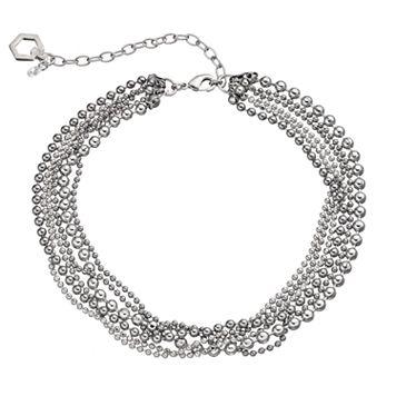 Simply Vera Vera Wang Ball Chain Multi Strand Choker Necklace