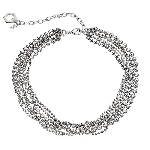Simply Vera Vera Wang Ball Chain Multi Strand Choker Necklace