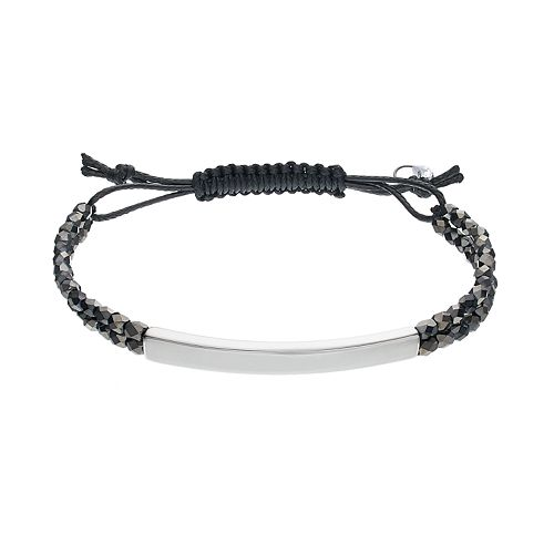 Simply Vera Vera Wang Curved Bar Beaded Cord Bracelet