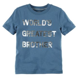 """Boys 4-8 Carter's """"World's Greatest Brother"""" Graphic Tee"""