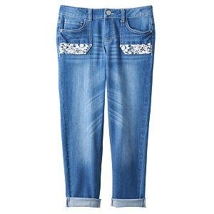 Girls 7-16 & Plus Size Mudd® Crochet Pocket Jean Capris