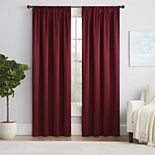 Eclipse Solid Thermapanel Room-Darkening Window Curtain