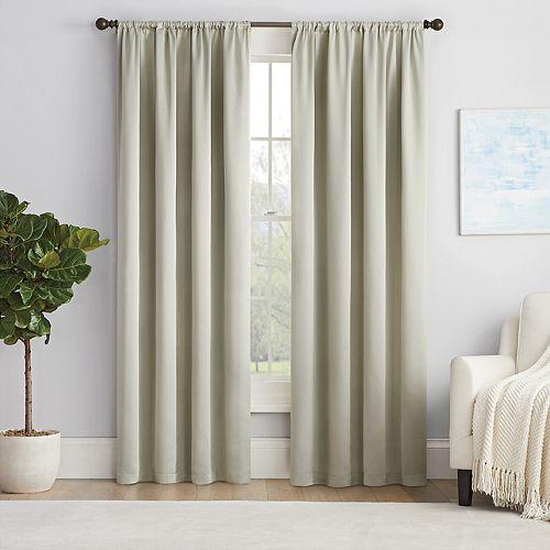 Eclipse Solid Thermapanel Room-Darkening Window Curtain