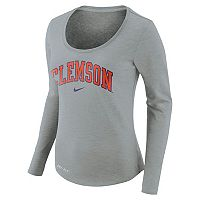 Women's Nike Clemson Tigers Slubbed Dri-FIT Tee