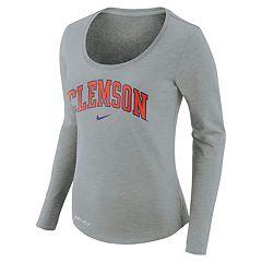 Women's Nike Clemson Tigers Slubbed Dri-FIT Tee