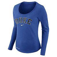 Women's Nike Duke Blue Devils Slubbed Dri-FIT Tee