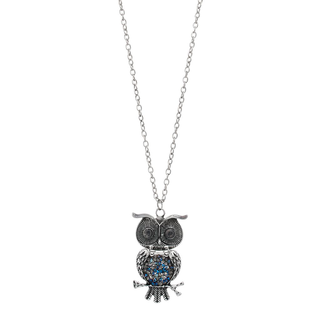 Mudd® Blue Owl Pendant Necklace