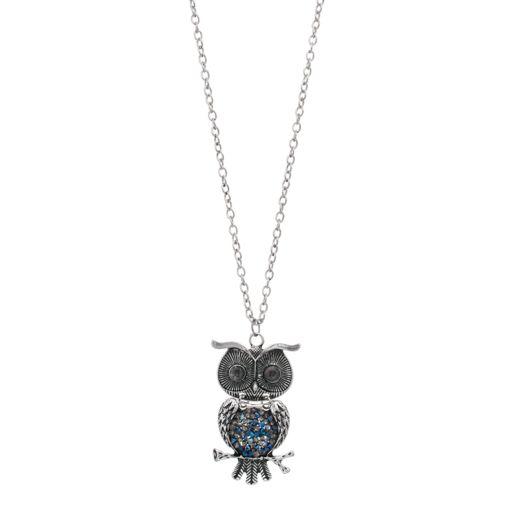 Mudd® Blue Owl Pendant Necklace