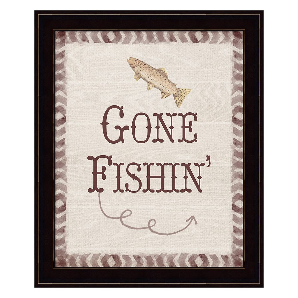 Gone Fishin' Framed Wall Art
