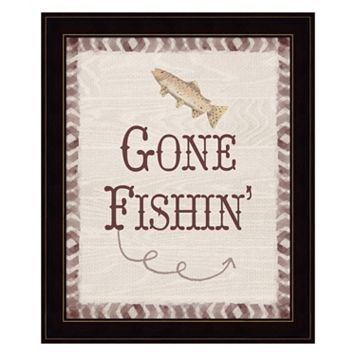 Gone Fishin' Framed Wall Art