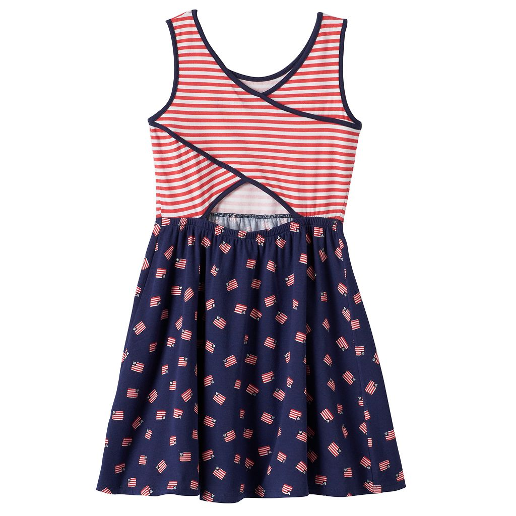 Girls 4-10 Jumping Beans® Americana Cross-Back Dress
