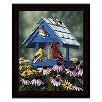 Birdhouse / Birds / Coneflower Framed Wall Art